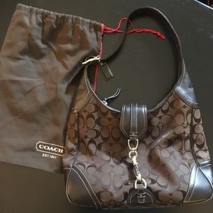 Brown Authentic Classic Coach Hobo bag